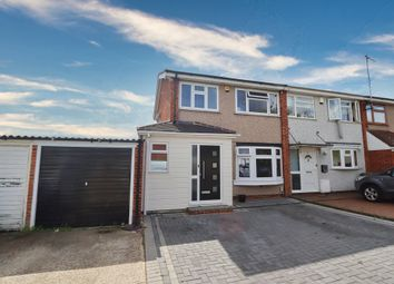 Thumbnail 3 bed end terrace house for sale in Bamford Way, Romford