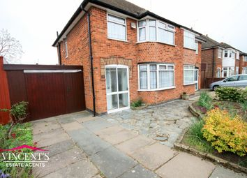 Thumbnail 3 bed semi-detached house for sale in Edward Avenue, Leicester