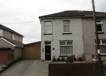 Thumbnail 2 bed semi-detached house for sale in Risca Road, Rogerstone, Newport