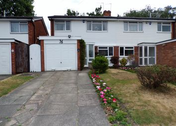 Thumbnail 3 bedroom semi-detached house for sale in Swanswell Road, Olton, Solihull