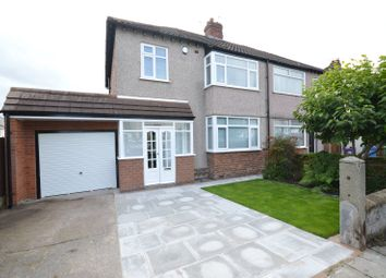 Thumbnail 3 bed semi-detached house for sale in Lyndor Road, Woolton, Liverpool