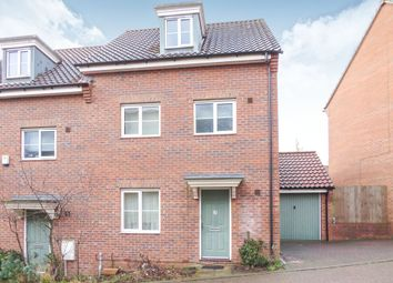 Thumbnail 4 bedroom town house for sale in Attoe Walk, Norwich
