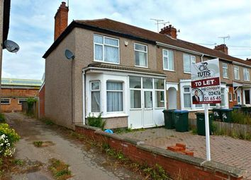 Thumbnail 3 bedroom end terrace house to rent in Burnaby Road, Coventry