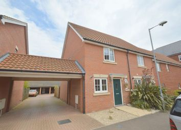 Thumbnail 2 bed semi-detached house to rent in Woodpecker Way, Costessey, Norwich