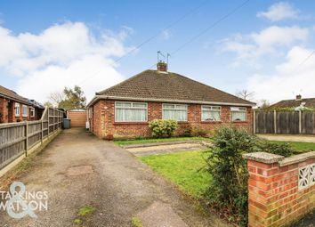 Thumbnail 2 bed semi-detached bungalow for sale in Booty Road, Thorpe St. Andrew, Norwich