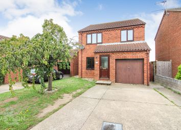 Thumbnail 3 bed detached house for sale in Hillrise Close, Worlingham, Beccles