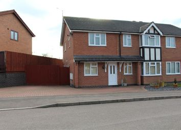 Thumbnail 4 bed semi-detached house for sale in Geveze Way, Broughton Astley, Leicester