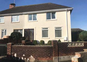 Thumbnail 3 bed semi-detached house to rent in Poyers Avenue, Pembroke, Pembrokeshire