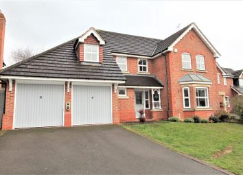 Thumbnail 4 bed detached house for sale in Scrivener Close, Bushby, Leicester