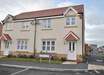 Thumbnail 3 bed semi-detached house to rent in Wattle Close, Sileby, Loughborough