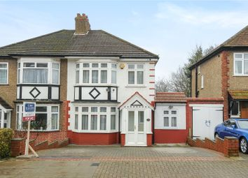 Thumbnail 3 bedroom semi-detached house for sale in Lyndhurst Avenue, Pinner, Middlesex