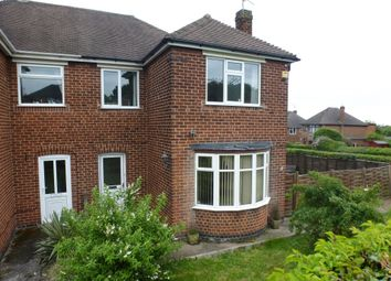 Thumbnail 3 bed semi-detached house for sale in Highfield Road, Littleover, Derby