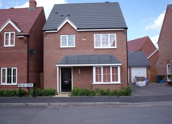 Thumbnail 3 bed detached house to rent in Valley Drive, Off Hedging Lane, Tamworth, Staffordshire