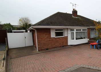 Thumbnail 2 bedroom semi-detached bungalow for sale in Foxhunter Drive, Oadby, Leicester