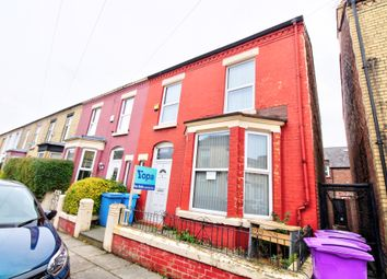 Thumbnail 3 bed end terrace house for sale in Claremont Road, Wavertree, Liverpool
