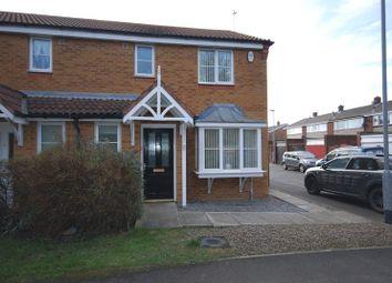 Thumbnail 3 bed semi-detached house for sale in Parkside Court, Ashington