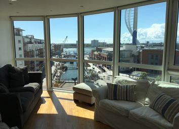 Thumbnail 3 bed flat to rent in Gunwharf Quays, Gunwharf Quays, Portsmouth