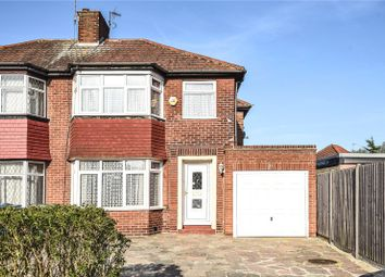 Thumbnail 3 bedroom semi-detached house for sale in Braithwaite Gardens, Stanmore, Middlesex
