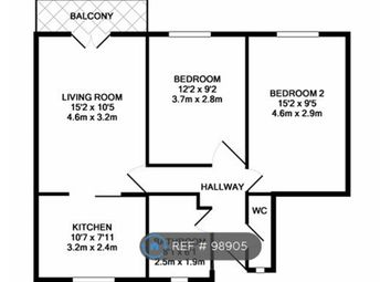 Thumbnail 2 bed flat to rent in Portland Rise Estate, London