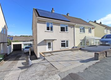 Thumbnail 3 bed semi-detached house for sale in Erle Gardens, Plympton, Plymouth, Devon