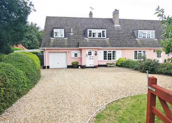 Thumbnail 3 bed semi-detached house for sale in The Street, Horringer, Bury St Edmunds