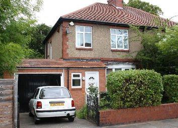 Thumbnail 4 bed semi-detached house to rent in Grosvenor Avenue, Jesmond, Jesmond, Tyne And Wear