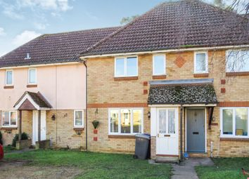 Thumbnail 2 bedroom terraced house for sale in Kestrel Close, Beck Row, Bury St. Edmunds