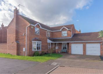 Thumbnail 4 bed detached house for sale in Barkston Drive, Peterborough