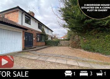 Thumbnail 3 bed semi-detached house for sale in Carfax Avenue, Oadby, Leicester
