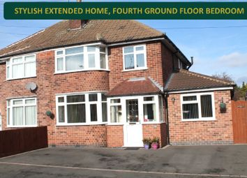 Thumbnail 4 bed semi-detached house for sale in Repton Road, Wigston, Leicester