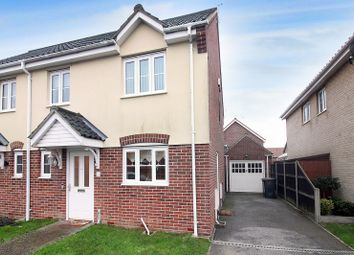 Thumbnail 3 bed semi-detached house for sale in Lumsden Close, Bradwell, Great Yarmouth