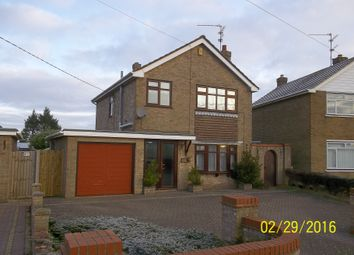 Thumbnail 3 bed detached house to rent in Leverington Common, Leverington, Wisbech