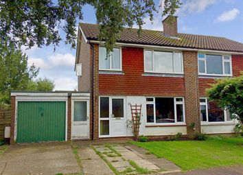 Thumbnail 3 bed semi-detached house for sale in Fairfield Way, Ashington, West Sussex