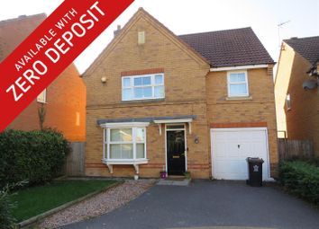 Thumbnail 4 bed detached house to rent in Kinchley Close, Leicester