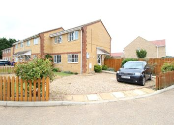 Thumbnail 2 bedroom end terrace house for sale in Harrier Way, Beck Row, Bury St. Edmunds