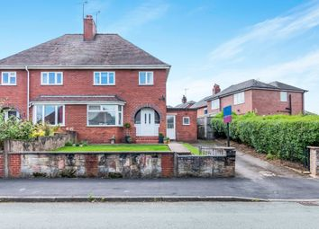 Thumbnail 3 bed semi-detached house for sale in Churchill Road, Cheadle, Stoke-On-Trent