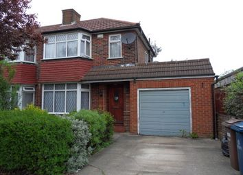 Thumbnail 3 bed semi-detached house to rent in Broadcroft Avenue, Stanmore