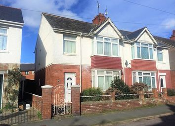 Thumbnail 3 bed semi-detached house for sale in Park Road, Exmouth