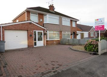 Thumbnail 3 bed semi-detached house for sale in Harrogate Road, Bromborough, Wirral