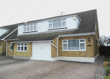 Thumbnail 3 bed semi-detached house for sale in Lime Grove, Doddinghurst, Brentwood