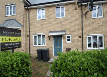 Thumbnail 3 bedroom terraced house for sale in Fieldfare Close, Stowmarket
