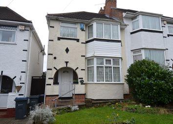 Thumbnail 3 bedroom semi-detached house for sale in Corisande Road, Selly Oak, Birmingham