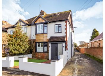 Thumbnail 4 bed semi-detached house for sale in Wembley Avenue, Lancing