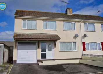 Thumbnail 4 bed semi-detached house for sale in Fairfield Close, St Austell
