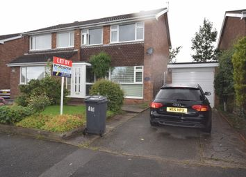 Thumbnail 3 bed semi-detached house to rent in Hawthorn Crescent, Stapenhill, Burton.