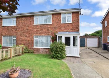 Thumbnail 3 bed semi-detached house for sale in Darenth Close, Herne Bay, Kent