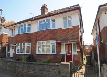 Thumbnail 4 bed semi-detached house for sale in Springfield Crescent, Ashley Cross, Poole