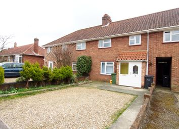 Thumbnail 3 bed terraced house to rent in Rothbury Close, Wymondham, Norfolk