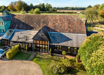 Thumbnail 5 bed barn conversion for sale in Throcking, Buntingford