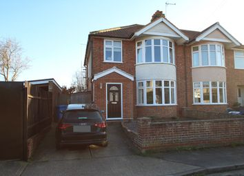 Thumbnail 3 bed semi-detached house for sale in Halliwell Road, Ipswich